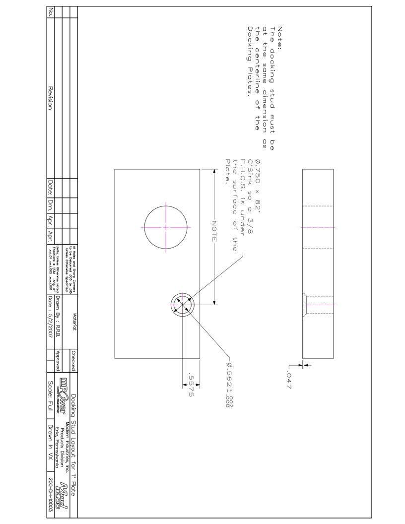 Download the Docking Stud Layout Manual